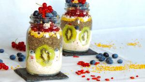 Chia-Haferflocken-Pudding