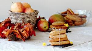 Vegane Mango-Apfel-Cookies