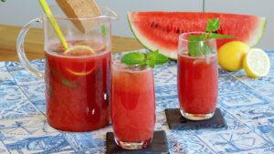Wassermelonen-Limonade mit Minze
