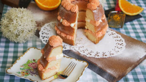 Orangenkuchen mit Vanille-Orangen-Crème