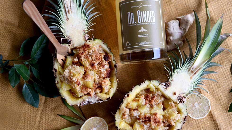 Ananas-Ingwer-Crumble